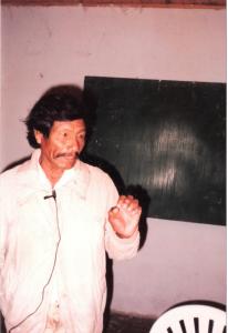 Taller de capacitación en Lengua Pilagá (1997 - 1998) Bartolo Fernández, Tomás Quiroga, Alejandro Rodas.
